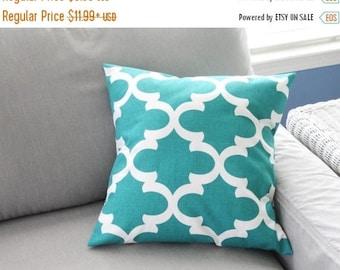 CLEARANCE Pillow Cover, Pillow, Decorative Throw Pillow, Decorative Pillow, Trellis, Cushion, Various Sizes, Beach Decor, Blue Pillow