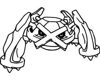 Mega Pokemon Metagross Coloring Pages Sketch Coloring Page