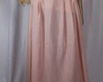 Sheer soft pink midi skirt