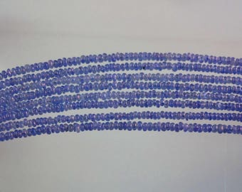 5-inch Natural Blue Sapphire smooth plain beads size 2.5mm 8cts GW2917