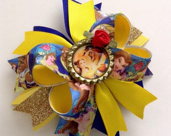 Belle Boutique Hair Bow, Beauty and the Beast Inspired Hair Bow