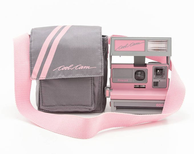 Featured listing image: Polaroid 600 Cool Cam - Pink and Grey with Soft Camera Case - Film Tested and Working