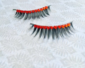 Valentine's Day heart eyelashes