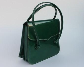 Vintage Mr Jonas Wicker Handbag With Lucite Handles