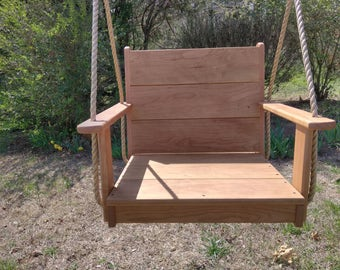 Wood Tree Swing- Adult Cherry Seat
