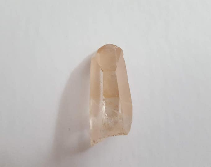 Pink Lemurian Seed Crystals ~ 1 Reiki infused crystal approximately 1.7 x .8 x .6 inches (PLQ03)