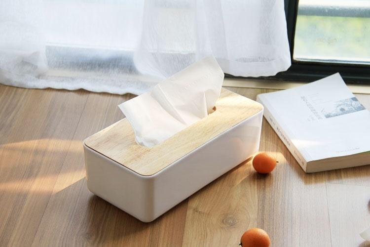 Diy Wood Facial Tissue Box Cover Holder Rectangular Bathroom