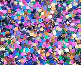 """One Pound (454 grams) Anodized Aluminum discs great for orgonite 0.22""""x0.025"""""""