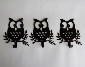 Metal Owl Wall Decor owl decor | etsy
