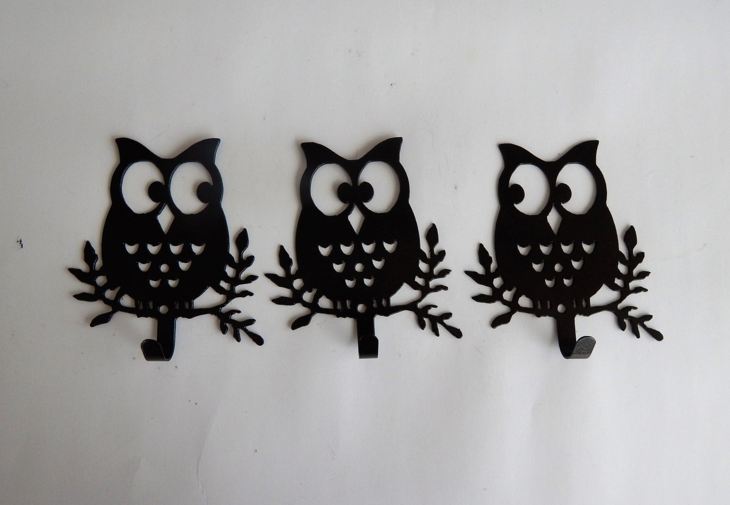 Owl Wall Hooksset Of 3owl Decorcoat Racktowel Rackbedroom