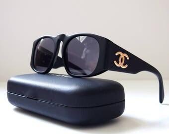 Chanel vintage sunglasses - Black matte