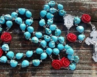 Catholic Rosary Beads Dia de los Muertos