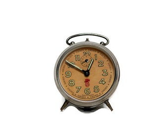 French vintage industrial alarm clock SMI -- home decor from France