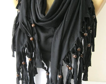 Fashion Black Scarf- Shawls-Scarves-gift Ideas For Her Women's Scarves-christmas gift- for her -Fashion accessories