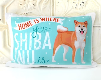 Shiba Inu Art Pillow