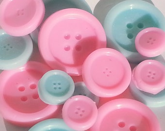 1 Button Set Soap, Cute As A Button Soap Favors, Button Baby Shower, Quilting Favors, Button Birthday Favor, Sewing Gift, Wedding, Bridal