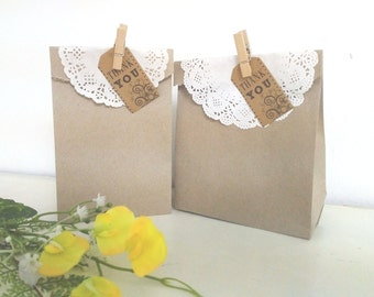 "5""x8"" Kraft Paper Bags, Natural Brown Wedding/Party Favor Gift Bags, Paper Bag Packaging"