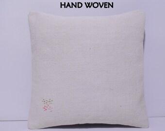 white kilim pillow white pillow cover white pillow case burlap pillow cover white throw pillow white decorative pillow white kilim rug D3481