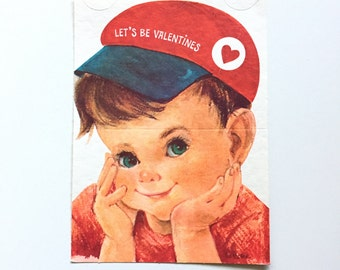 Vintage Valentineu0027s Day Card / Vintage Valentine / Hallmark Greeting Card / Valentineu0027s  Day Decoration /