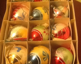 Vintage Christmas Ornaments (42 total)
