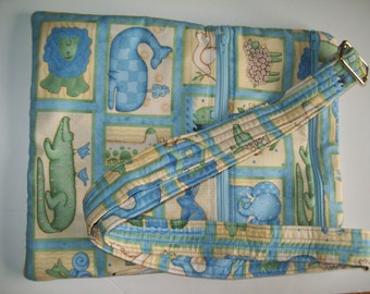 Noah Ark cross body or diaper  bag price reduced for clearance