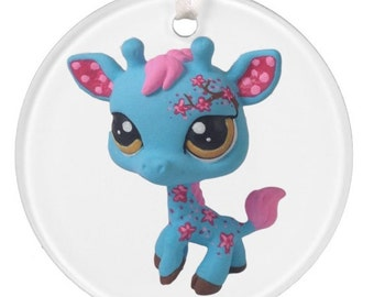 PRE-ORDER Custom Littlest Pet Shop Cherry Blossom Giraffe Ornament