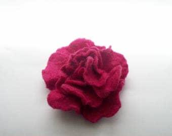 flower brooch, felt jewelry, gift for her