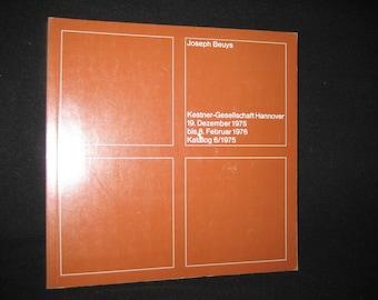 "1975 Kestner-Gesellschaft Hannover. Exhibition catalog ""Joseph Beuys"". Catalog 6 exhibition year 1975. VINTAGE"
