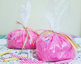 Cupcake Bath Salts - Cupcake Bath Soak - Foodie Bath - Pink Bath Salts - Bath Soak - Epsom Salts - Birthday Cake Bath Salts - Happy Birthday