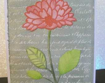 Handmade Any Occasion Floral Greeting Card