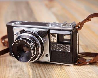 Vintage Rare Camera Voskhod. Film Camera Voshod. Working camera. Viewfinder Camera.