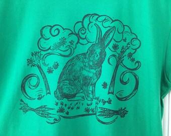 Bunny Rabbit Green TShirt short sleeve