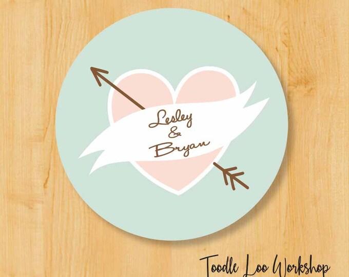Wedding Label | Bridal Shower Stickers | Wedding Sticker Labels | Wedding Stickers for Favors | Bridal Shower Favors