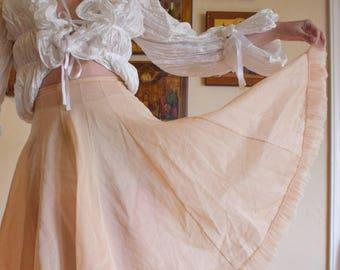 50's Anne Fogarty Peachy Skirt Slip