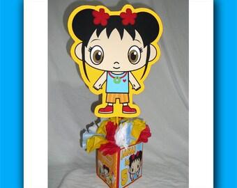 DIY Kai-lan Birthday Party Centerpiece, DIY Small girl and boy, koala bear centerpieces