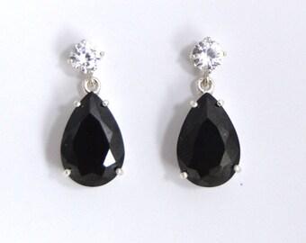 Custom Two Stone Drop Earrings
