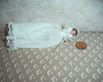 1:12 scale Dollhouse Miniature Porcelain Baby