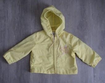 Vintage Pastel Yellow Baby Gerber Coat - 18 months