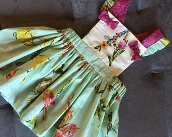 Toddler Pinafor, girls pinafor, Suspender skirt.