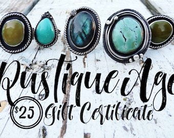 Gift Certificate | 25 | Twenty Five Dollar Value // RusTiqueAge
