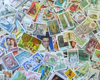 500 Stamps -  Massive Lot of 500 Worldwide Stamps for Decoupage, Paper Crafts, Collage and More...