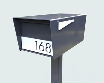 GOODWOOD Powder Coated RAL 7015 Slate Grey Stainless Steel Mailbox