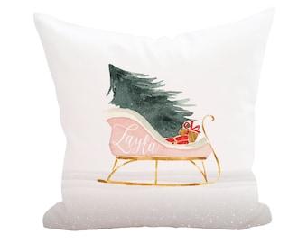 Christmas Holiday Pillow Cover, Decorative Pillows, Throw Pillow, Home Decor, Custom Monogram Accent Pillow Cover, Farmhouse Wedding