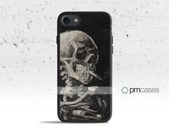 Skull and Cigarette Case Cover for Apple iPod Touch & iPhone 4/4s/5/5s/5c/6/6s/7/Plus/SE