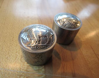 Domed Indan/buffalo head nickel.All metal. Guitar knobs