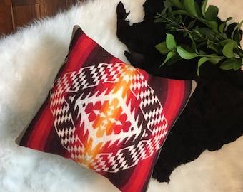 Geometric Pillow Cover in Pendleton Wool, Bohemian Throw Pillow, couch pillow, Boho Pillow Cover,Southwest Pillow, Tribal Throw Pillow,
