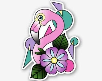 80's Flamingo - Sticker