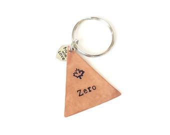 "Copper Triangle Pet ID Tag, Dog ID Tag, 1.38 x 1.5"" Pet Identification Tag, Pet Accessories, Modern Pet Tag, Maple Leaf, Choose Your Symbol"