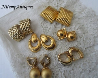 Vintage earrings x 6 clip ons