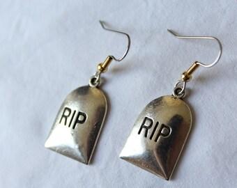 "Pending short loops. ""R.I.P"" headstone"
